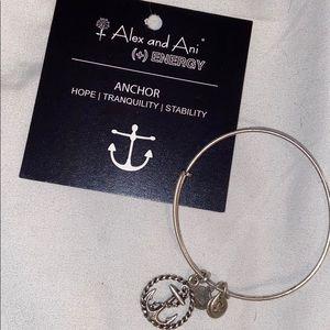 ALEX AND ANI silver anchor bracelet